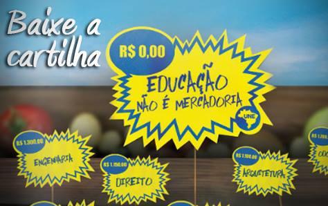 banner cartilha educacao nao e mercadoria