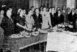 11º aniversário da UNE. Solenidade de comemoração no salão nobre da entidade em 1948