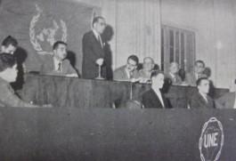 Conferência da UNE em homenagem a Franklin Roosevelt