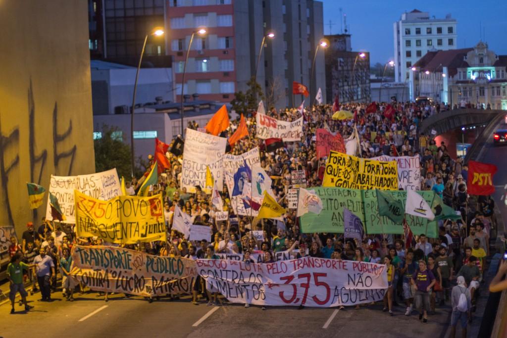 protesto aumento