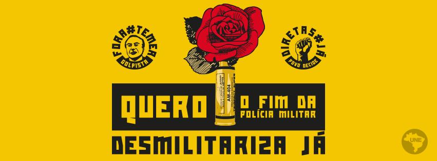 Capa para Facebook -#DesmilitarizaJá