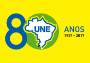 Logo-Une-80-fundo-verde-8-azul-AMARELO