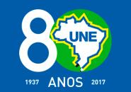 Logo-Une-80-fundo-verde-8-branco-AZUL-VERTICAL